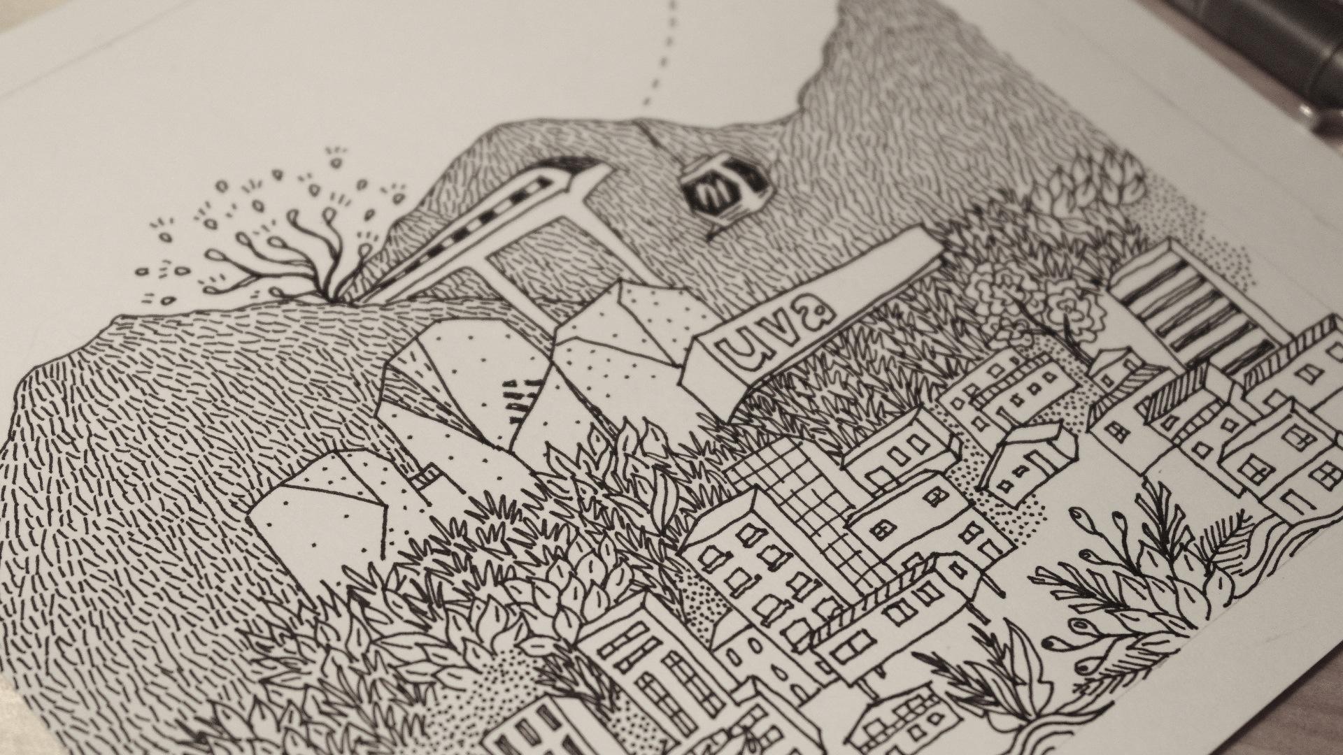 Ilustración WUF 7 por Andrea Posada - Licencia Creative Commons